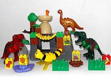 LEGO DUPLO ~ DINOSAURES ~ Jeux Set ~ avec 2 grands T-Rex ~ Dinosaur ~ DINOSAURES ~ Grotte