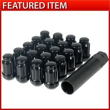 20 BLACK SPLINE DRIVE TUNER LUG NUTS 12X1.5 FITS HONDA CIVIC SI ACCORD ODYSSEY