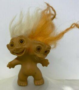 Vintage 1966 Two Headed Uneeda Troll  Doll Toy