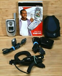 LG VX6100 - Silver (Verizon) Cellular Phone With Accessories