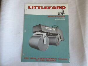 Littleford 125 one-ton roller specification sheet brochure