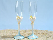 Starfish Beach Wedding Toasting Glasses Set Wedding Flutes