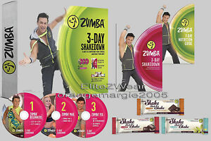 Zumba 3Day Shakedown DVD's (6 workouts) + 3DayShakes + Weightloss Guide Beginner