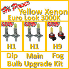 100W Alta Potenza 3000K Giallo Xenon Faro Bulbo Set Principale Affondante Nebbia