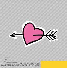 Heart Arrow Love Cute Vinyl Sticker Decal Window Car Van Bike 2000