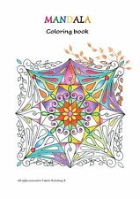Mandala coloring book 18 mandalas PDF A4 with activation code low of atraction