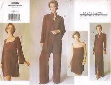 Vogue Sewing Pattern 2006 Designer Lauren Sara Dress Tunic Skirt Pants Sz 14-18