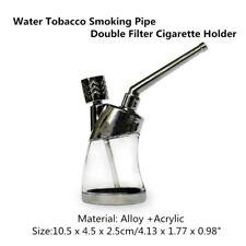 Retro Nice Hookah Water Tobacco Smoking Pipe Bong Double Filter Cigarette Holder
