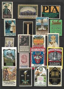 Poster Stamps  1913  Europe Exhibitions   19 stamps