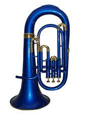 BRASS BLUE FINISH Bb FLAT 3 VALVE EUPHONIUM+FREE HARD CASE+M/P+FAST DELIVERY