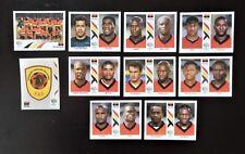 Panini Fifa World Cup Germany 2006 completo de equipo Angola + Placa De Aluminio