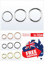 S925 Sterling Silver Seamless Hoop Ring 22g 20g 18g Nose Ear Lip Piercing 1pc