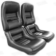 79-81 Corvette C3 MOUNTED Seat Upholstery Covers BLACK VINYL with FOAM SET NEW