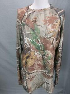 Columbia PHG Size L Mens Brown Athletic Outdoor Long Sleeve Hunting T-Shirt T770