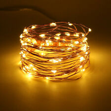 100LED USB String Copper Wire Fairy Lights Xmas Party Fairy Decor Lamp 8 Modes