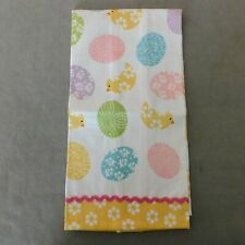 New listing * Linens Towel Dish 100% Cotton Vintage Easter Pastel Yellow Rana'S Usa Seller