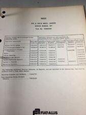 Fiat Allis 945 945b Wheel Loader Service Manual Set