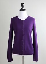TALBOTS NWT $159 100% Pure Cashmere Solid Purple Sweater Top Size Small Petite