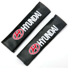 2pcs Black New Car Seat Belt Cover Pads Shoulder Cushion For Hyundai