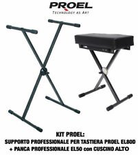 Proel EL80D Support Clavier amovible et pliant + Proel EL50 Banc