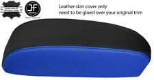 BLACK & BLUE TOP GRAIN REAL LEATHER ARMREST COVER FITS MAZDA CX5 CX-5 12-15