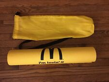 McDonald's Corporation Yellow Yoga Mat And Carrying Bag