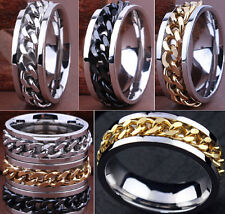 Wholesale 30pcs Top Quality Stainless Steel Rings Chain Spinner for Men Mix Lots