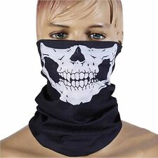 Magic Ghost Skeleton Skull Evil Face Mask Veil Scarf Head Wear Halloween Deco B