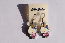 Earrings, Pierced Ears, Hello Kitty, Pink Body,