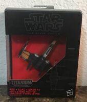Star Wars Titanium Series Model #12 Poe's X-Wing Fighter & Stand In Original Box