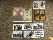 Pre Owned John Wayne Memoribilia.  Photos, personality bills, coasters.