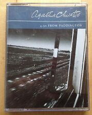 AUDIO BOOK Agatha Christie 4-50 FROM PADDINGTON read by Joanna David on 2 x cass