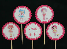 Lalaloopsy personalised 12 pack cupcake toppers picks