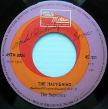 THE SUPREMES 45 The Happening ITALY press TAMLA MOTOWN