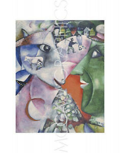 """MARC CHAGALL - I AND THE VILLAGE, 1911 - ART PRINT POSTER  14"""" x 11""""(631)"""