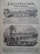 L'ILLUSTRATION 1847 N 230 VIADUC CHEMIN DE FER DE VIERZON SUR LA LOIRE A ORLEANS