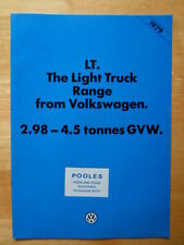 VOLKSWAGEN LT Light Truck orig 1979 UK Market brochure - VW Chassis Cab Van etc