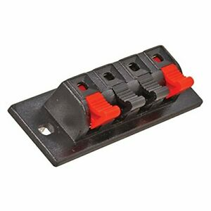 "33-1404  Speaker Connector, 4 Posts, Spring Jack, 3"" x 1"" Size,  (Pack of 2)"
