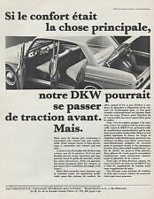 PUBLICITE  AUTOMOBILE DKW  CAR Original Print  Ad  1965 - BG