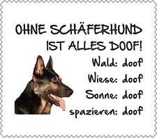 """Displayreinigunstuch Schäferhund """"ALLES DOOF"""" Brillenputztuch Hund GT0002"""