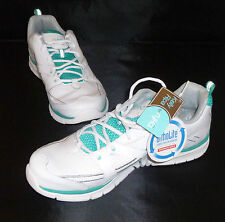 RYKA Women's Transpire Leather Sports Shoe - White/Grey/Aqua size 11US / 9UK