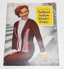 Tricoté Pullover Vestes Vêtements Jupes Schnittmusterbogen DDR Um 1955