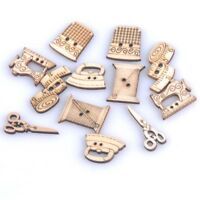50Pcs Buttons Sewing Clothes Decor Wooden Irregular Shape DIY Apparel Sewing