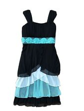 Speechless Girl's Dress Size 14 Ruffles Mint Black Flowers