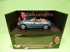UT MODELS 24336 BMW Z3 ROADSTER 007 JAMES BOND GOLDEN EYE - BLUE 1:18 EXCELLENT