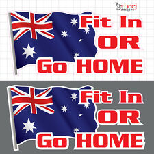 Aussie Flag 200x95 Australian southern cross sticker Australia Day decal