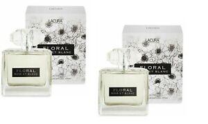2 x Lacura Floral Noir et Blanc , Eau De Parfum-100ml - Aldi Dupe - New & Boxed