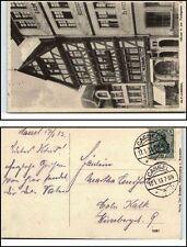 1913 Stempel CASSEL auf AK Alt-Kassel Geschäfte Geschäftshäuser Fischgasse