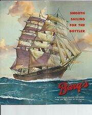 BARQ'S  Root Beer Brochure Printed to Bottlers Nationwide Circa  1950