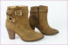 Boots Booties SAN MARINA Leather Hide Light Brown T 37 TOP CONDITION